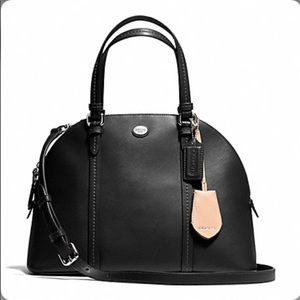 PEYTON LEATHER CORA DOMED SATCHEL